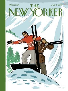The New Yorker Cover - January 11, 2010 by Jan Van Der Veken