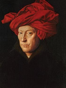 A Man in a Red Turban (Self-Portrait of Jan Van Eyck), 1433 by Jan van Eyck