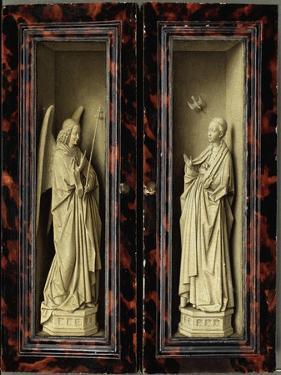 Angel of the Annunciation by Jan van Eyck