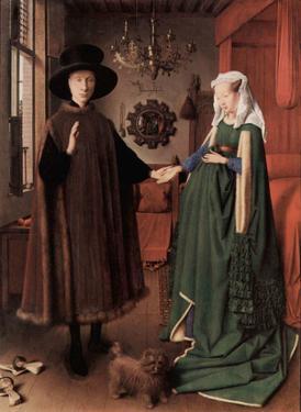 Jan van Eyck (Arnolfini Wedding, Wedding Picture of Giovanni Arnolfini and his wife Giovanna Cenami