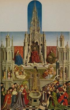 'La Fuente De La Vida', (The Fountain of Grace), 1430-1455, (c1934) by Jan Van Eyck