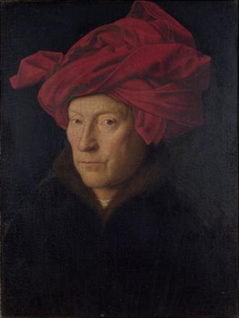 Man in a Red Turban (Formerly Self-Portrait) by Jan van Eyck