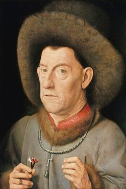 Man with Pinks by Jan van Eyck