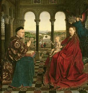 The Rolin Madonna (La Vierge De Chancelier Rolin), circa 1435 by Jan van Eyck