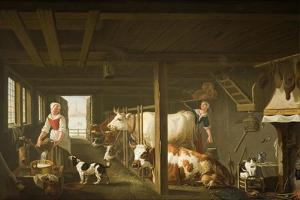 Milking in Winter by Jan van Gool