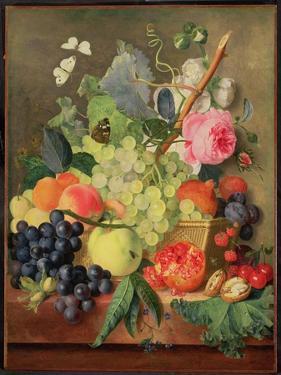 A Basket of Fruit, 1744 by Jan van Huysum