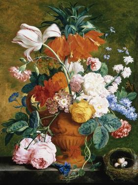 A Vase of Rich Summer Flowers by Jan van Huysum