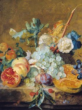 Flowers and Fruit by Jan van Huysum