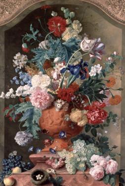 Flowers in a Terracotta Vase, 1736 by Jan van Huysum