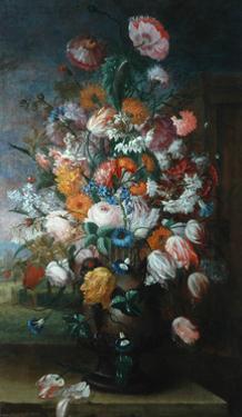 Flowers, Studies with Irises, 1682 by Jan van Huysum