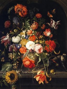 Flowers by Jan van Huysum