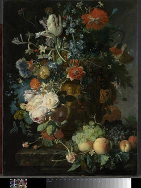 Still Life with Flowers and Fruit by Jan van Huysum