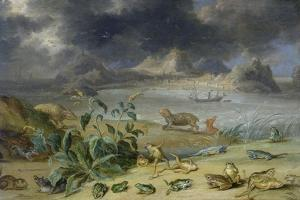 From the Cycle the Four Continents, Asia, Detail: Aden by Jan van Kessel