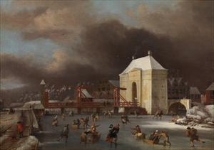 View of the Heiligewegspoort in Amsterdam by Jan van Kessel