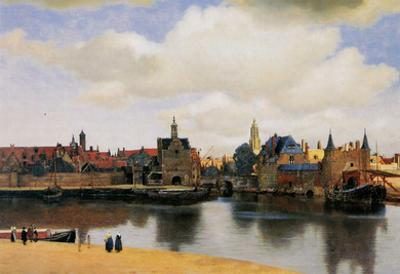 Jan Vermeer van Delft (View of Delft) Art Poster Print