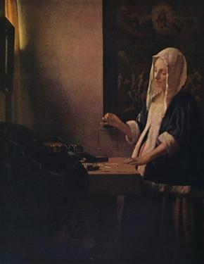 'Woman Holding a Balance', c1664 by Jan Vermeer