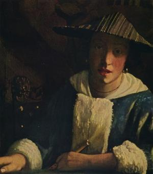 'Young Girl with a Flute', c1665-1675 by Jan Vermeer