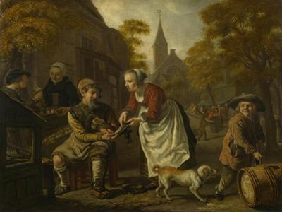 A Village Scene with a Cobbler, C. 1650