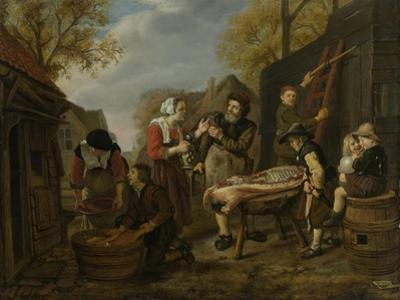 Butchering a Pig, Jan Victors