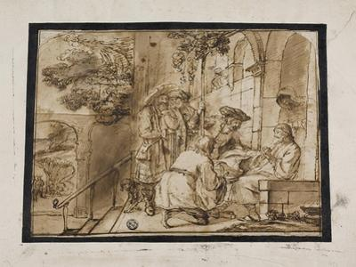 Joseph's Brothers Showing His Coat to Jacob, 1640S