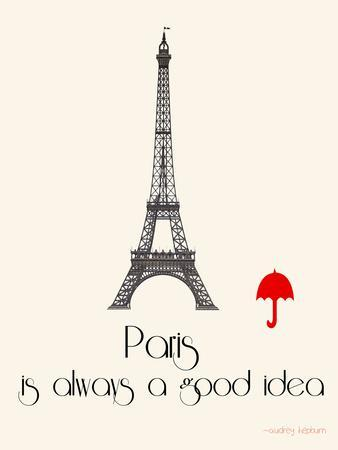 Paris Travel Poster With Eiffel Tower