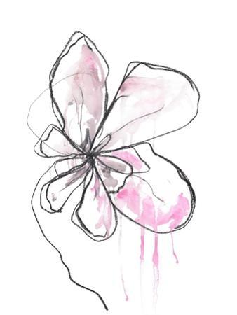 Pink Modern Botanical by Jan Weiss