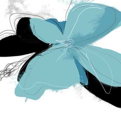 Tiffany Blue Floral One by Jan Weiss