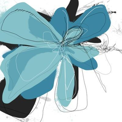 Tiffany Blue Floral Two by Jan Weiss