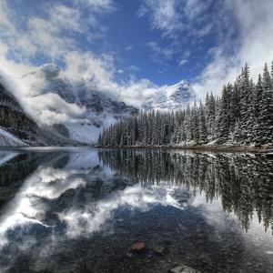 Moraine Lake with Fresh Snow by Jan Zwilling