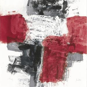 Action I Red Black Sq by Jane Davies