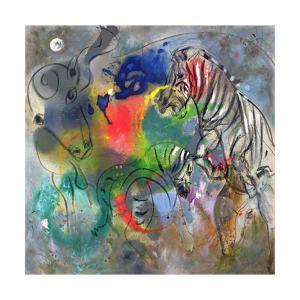Zebra Mares, 1988 by Jane Deakin