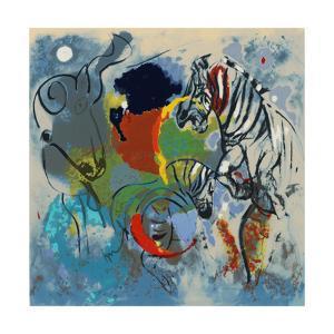 Zebras, 1988 by Jane Deakin