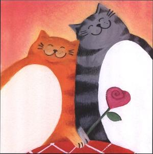 Fat Cats II by Jane Heyes