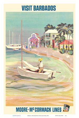 Visit Barbados, Caribbean Island - Moore-McCormack Lines