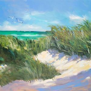 Blue Grass Breeze I by Jane Slivka