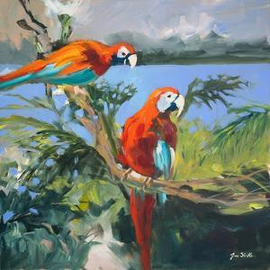 Parrots at Bay II by Jane Slivka