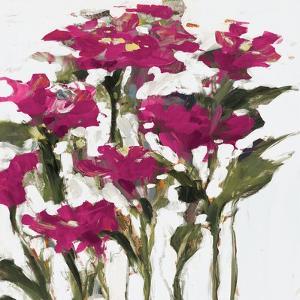 Plum Wild Flowers by Jane Slivka
