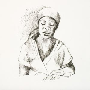 Sketched Woman I by Jane Slivka