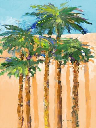 Tan Shadow Palms I