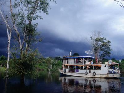 Amazon Riverboat Near Porto Velho, Porto Velho, Rondonia, Brazil by Jane Sweeney