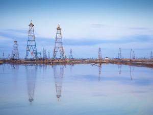 Azerbaijan, Abseron Peninsula, Oil Fields by Jane Sweeney
