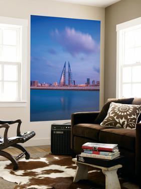 Bahrain, Manama, Bahrain Bay, View of Bahrain World Trade Center by Jane Sweeney