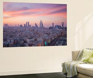 Bahrain, Manama, View of City Skyline by Jane Sweeney