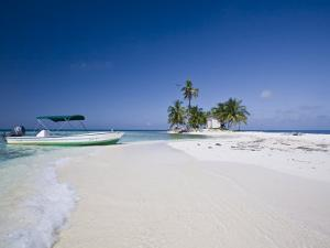Beach, Silk Caye, Belize by Jane Sweeney