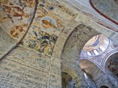 Biblical Frescoes on Dome, Church of the Divine Wisdom, Aya Sofya Museum, Trabzon, Turkey
