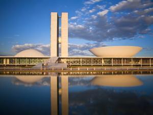 Brazil, Distrito Federal-Brasilia, Brasilia, National Congress of Brazil by Jane Sweeney