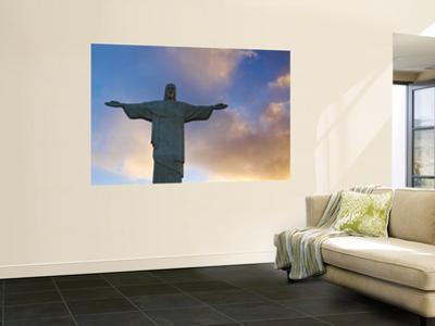 Brazil, Rio De Janeiro, Cosme Velho, Chirst the Redeemer Statue Atop Cocovado by Jane Sweeney