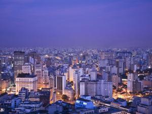 Brazil, Sao Paulo, Sao Paulo, View of City Center from Italia Building - Edificio Italia by Jane Sweeney