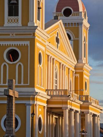 Cathedral De Granada, Park Colon (Park Central), Granada, Nicaragua, Central America by Jane Sweeney