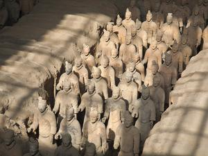 China, Shaanxi, Xi'An, the Terracotta Army Museum, Terracotta Warriors by Jane Sweeney